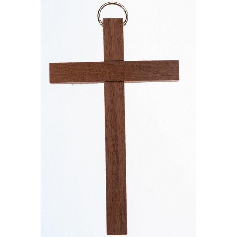 10 cm Brown Wood Cross