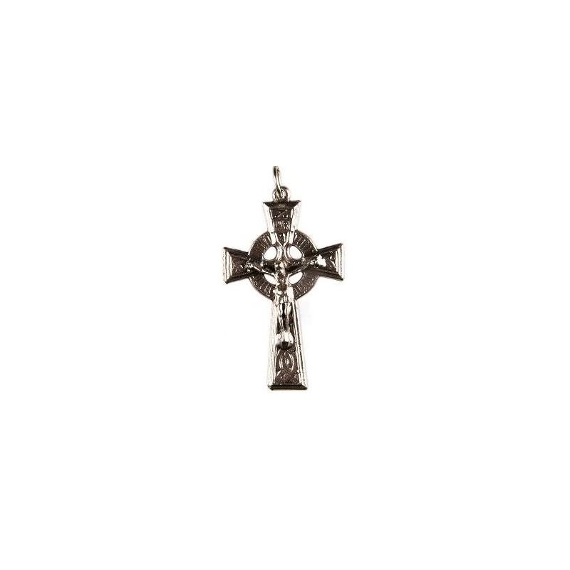 Pack of Three. 3cm Metal Celtic Cross Crucifix.