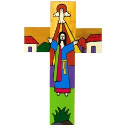 25cm Risen Christ Cross