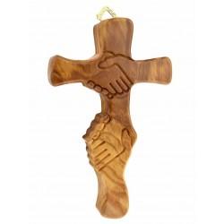 14cm Wood 'Helping Hands 'cross