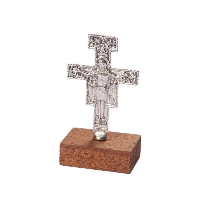 8 cm Self Standing Franciscan Cross Crucifix