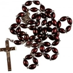 Extra Large Brown Wood Rosary.