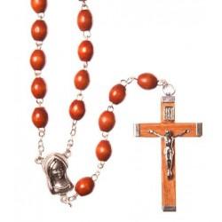 Brown Wood Rosary Bead.