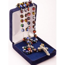 Exclusive Murano Glass Rosary Beads. Supplied in Gift Presentation Case.