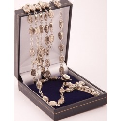 Mraculous Medal Rosary Beads. Each Bead is a Miraculous Medal.Supplied in Gift Presentation Case.