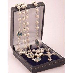 Mraculous Medal Rosary Beads.Supplied in Gift Presentation Case.