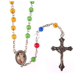 Glass Missionary Rosary Bead