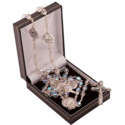 Basilicas of Rome Rosary Beads. Supplied in Gift Presentation Case.
