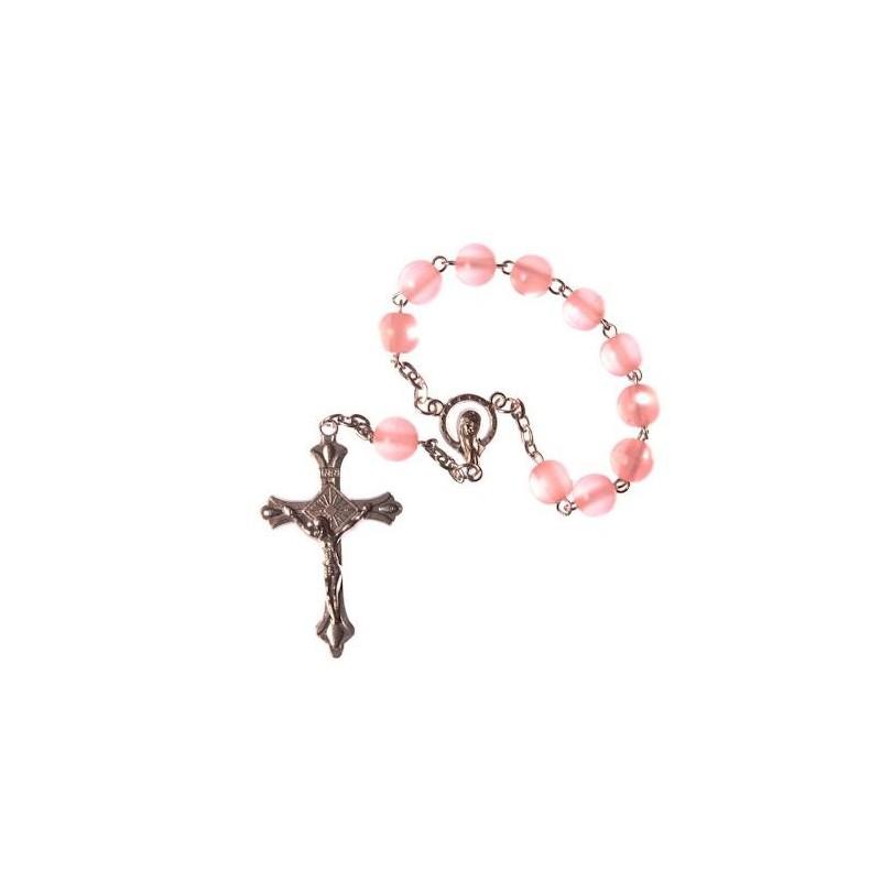 Pnk One Decade Rosary Bead.