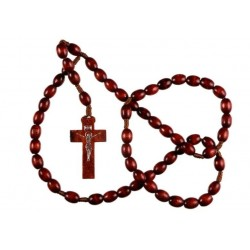 Brown Wood Rosary Bead