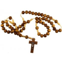 Brown Wood Rope Rosary Bead