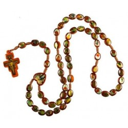 Brown Rope Wood Saints Rosary Bead