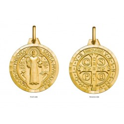 9ct Gold Saint Benedict Medal