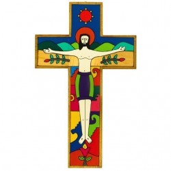 63 cm Crucified Christ Cross