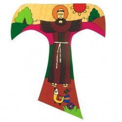 15 cm St Francis of Assisi Tau Cross