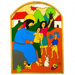 Christ with the Children Wall Plaque
