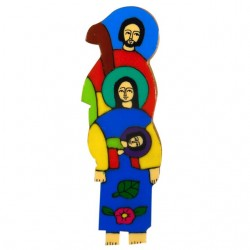 10 cm Holy Family Wall Plaque