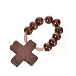 Brown Wood Rosary Ring. 2/46.