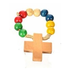 Multi Colour Wood Rosary...