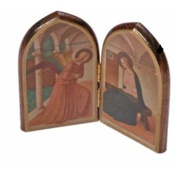 The Annunciation scene Wooden Icon. Dyptych Icon