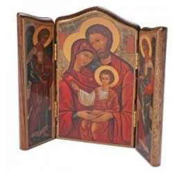 Holy Family Icon. Triptych Icon.