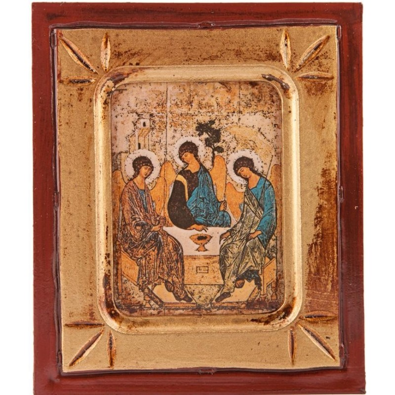 Wood Icon of The Holy Trinity