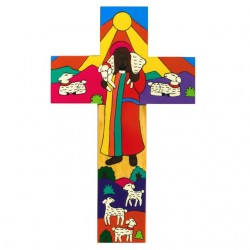 10 cms Modern Good Shepherd Cross