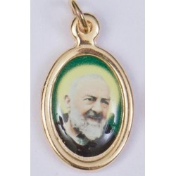 Colour Padre Pio Medal