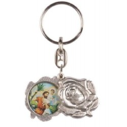 St Christopher and Our Lady keyring