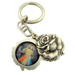 Immaculate Heart of Our Lady and Divine Mercy keyring