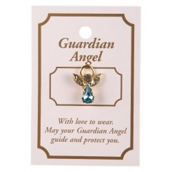 Blue Guardian Angel Lapel Brooch