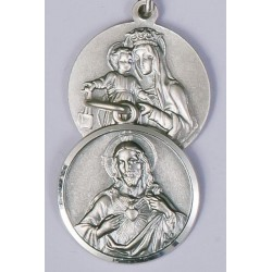 20mm Sterling Silver Scapular Medal and Chain