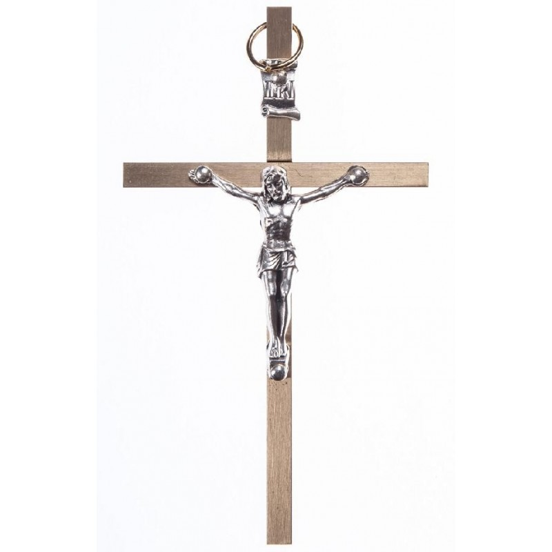10 cm Brass Metal  Crucifix.