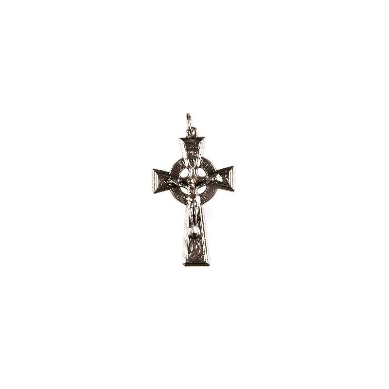 Pack of Three. 3cm Metal Celtic Cross Crucifix.