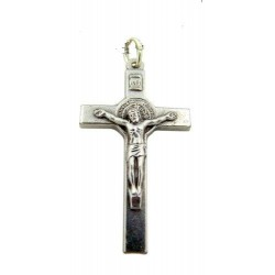 Pack of Three. 3cm Metal St. Benedict Cross Crucifix.