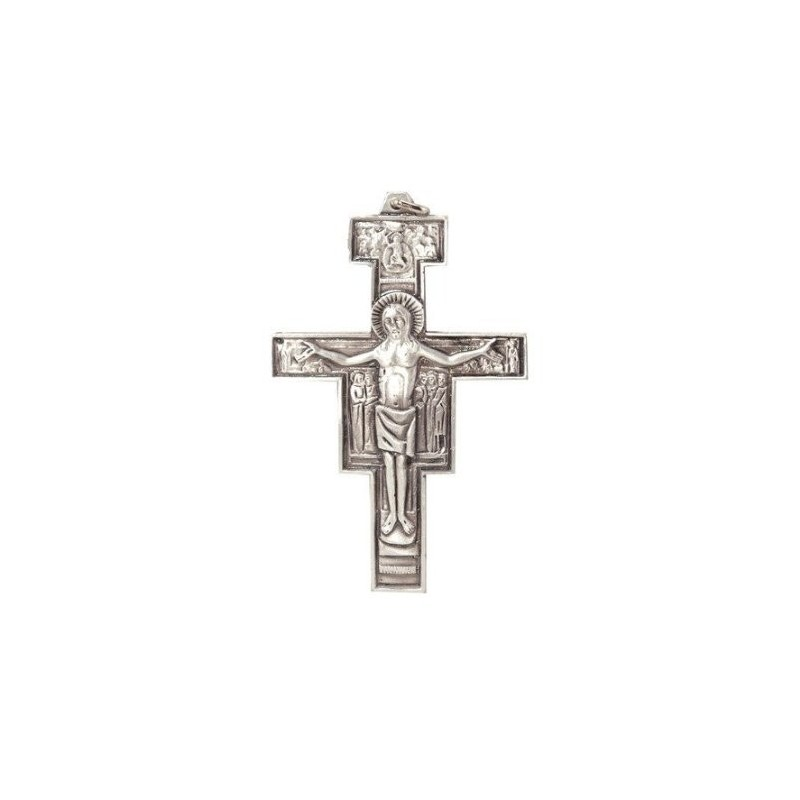 7cm  Franciscan Cross Metal Crucifix.