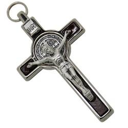 9cm Black St. Benedict Cross Crucifix.