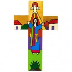 25cm Risen Christ Cross