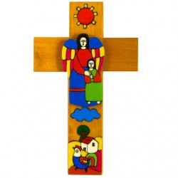 25cm My Guardian Angel Girl Cross