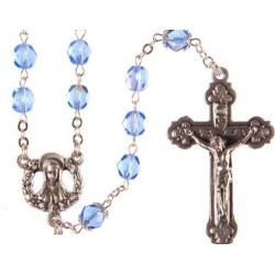 Sapphire Blue Rosary Beads