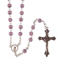 Amethyst Glass Bead Rosary