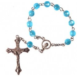 Blue One Decade Rosary Bead.