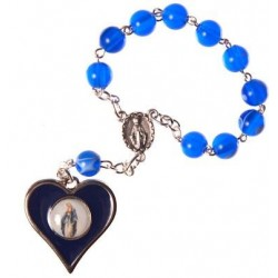 Our Lady Immaculate Medal One Decade Rosary Bead.