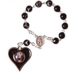 Padre Pio One Decade Rosary Bead.