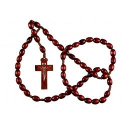 Brown Wood Rosary Bead