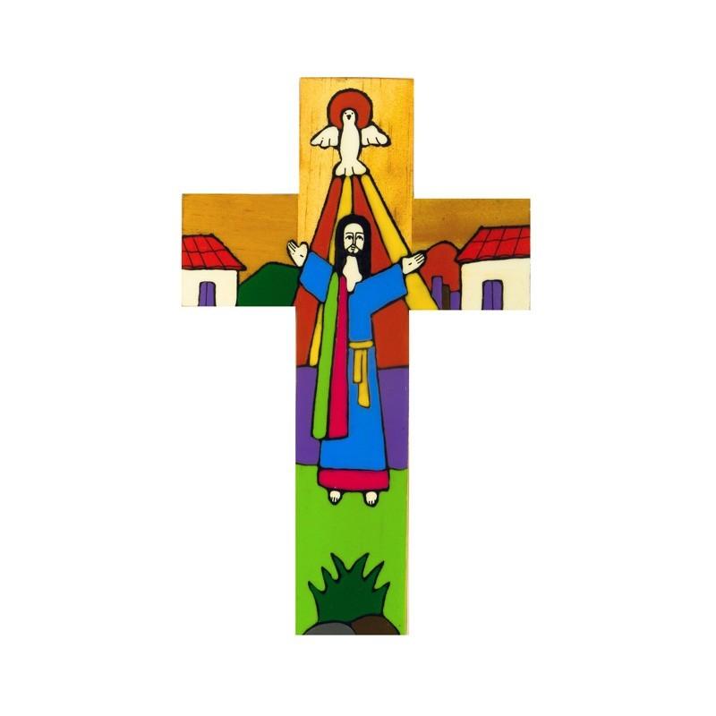 40 cm Risen Christ Cross