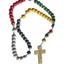 Wood Missionary Rosary Bead