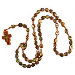 Brown Rope Wood Saints Rosary Bead