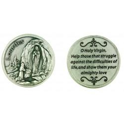 Our Lady of Lourdes Prayer Token